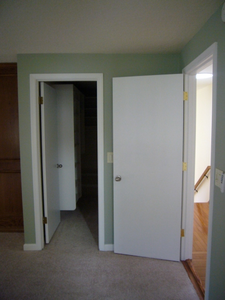 {Closet to the right}
