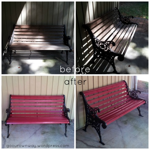 bench before-after