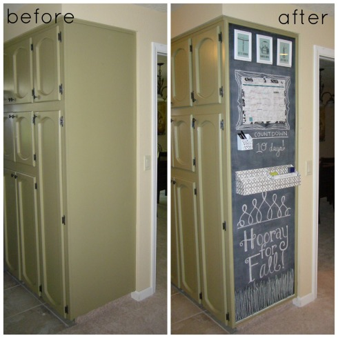 Chalkboard before-after