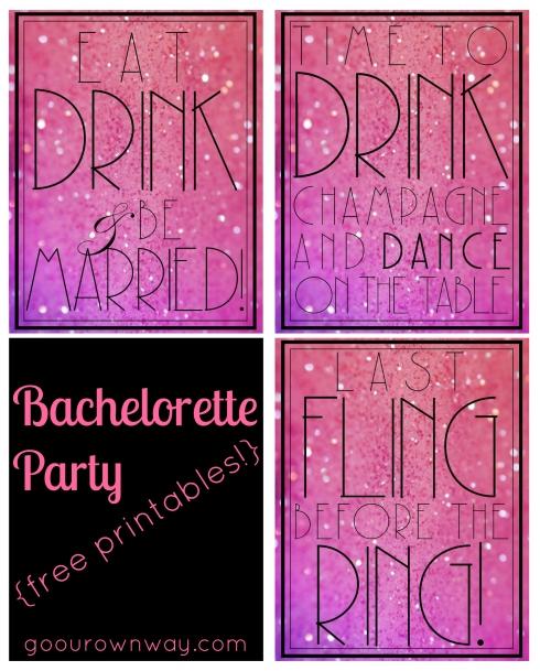 Bachelorette Printables