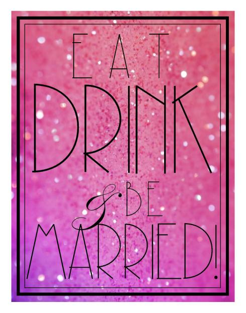 Be Married Printable